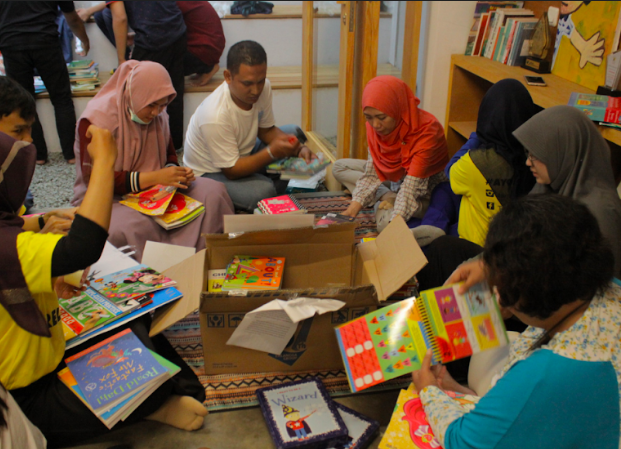 Celebrating National Book Day with Volunteering Workshop and Book Labeling
